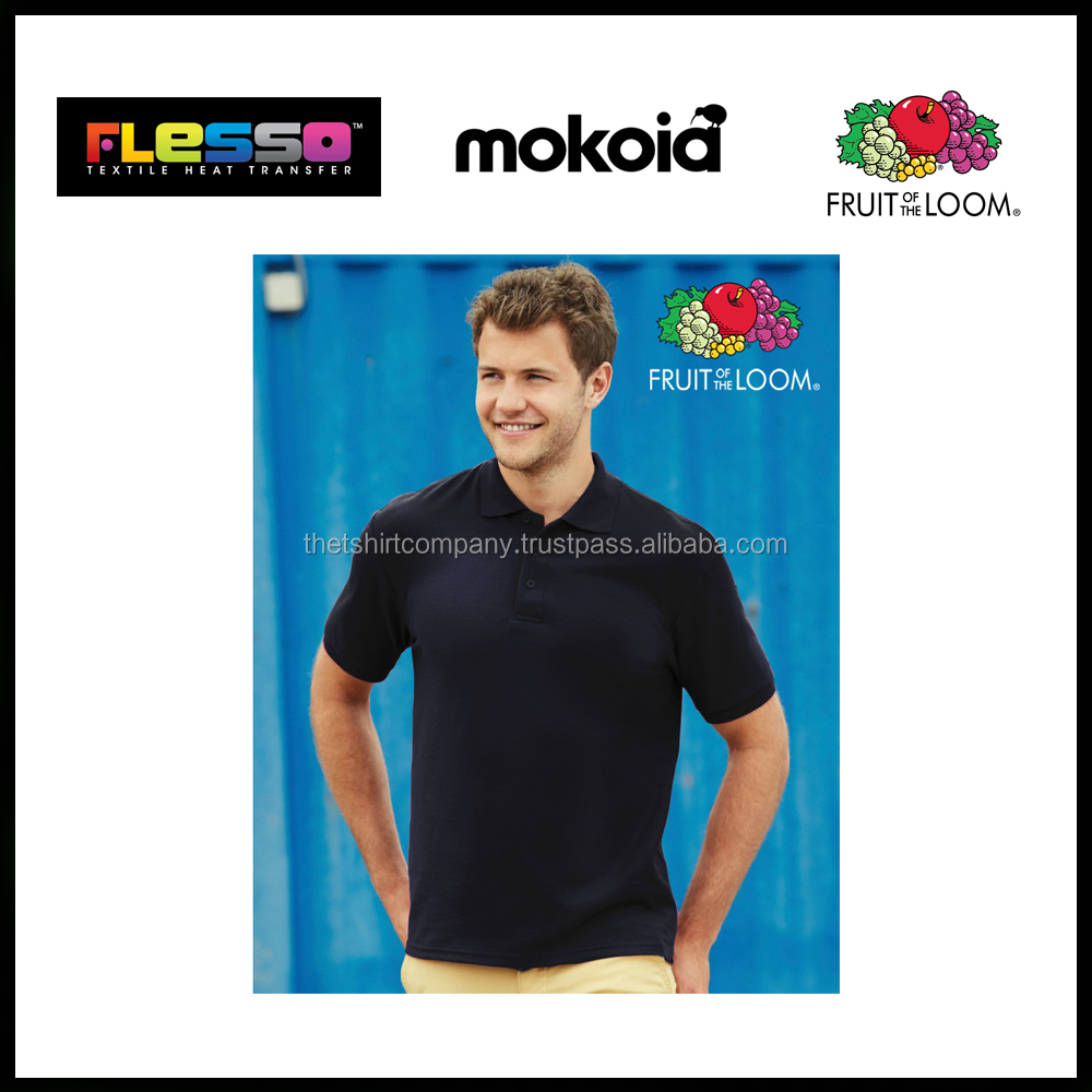 FRUIT OF THE LOOM POLO , Ready MAde apparel cotton blank tshirt