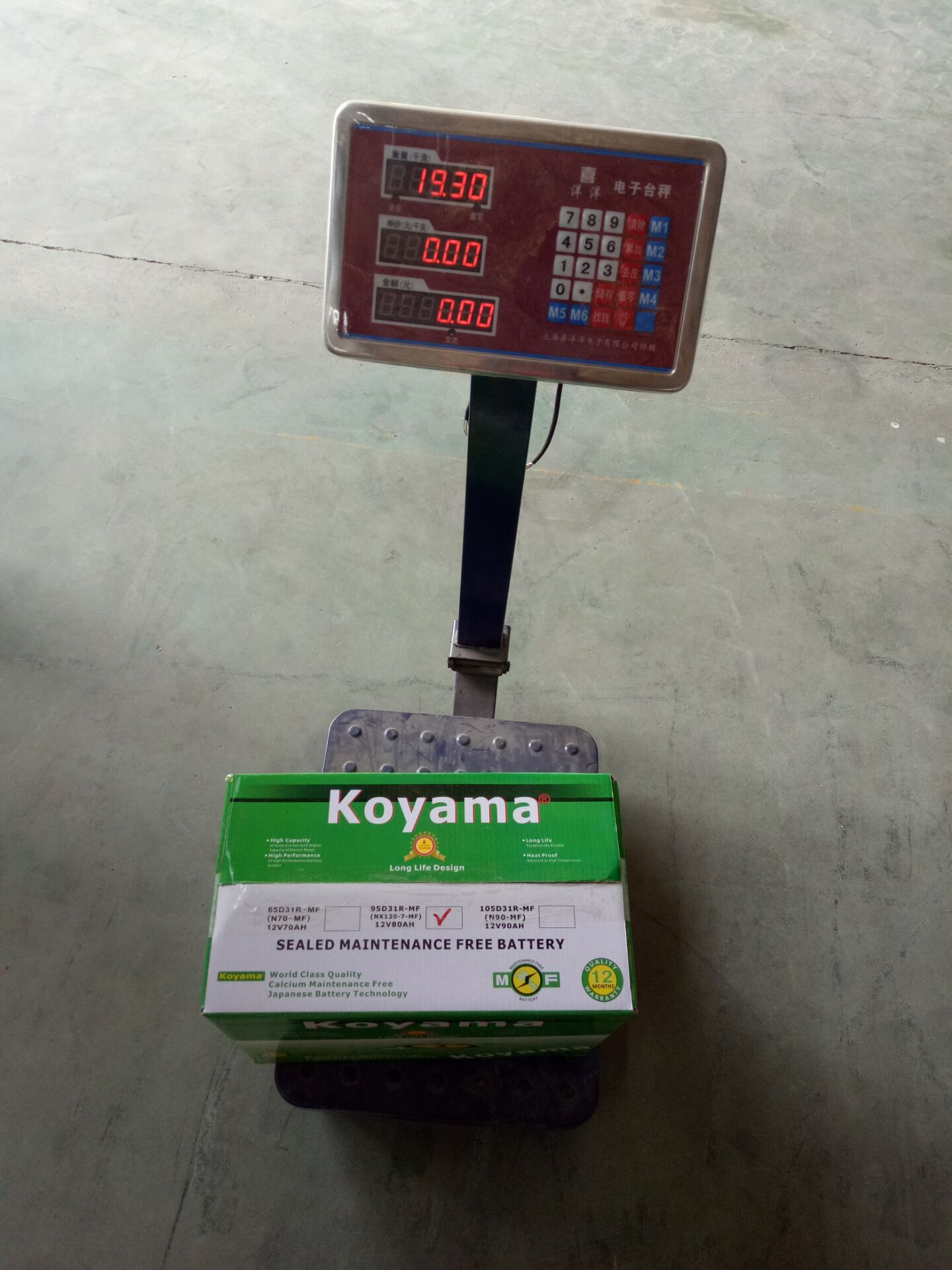 NEW ! Koyama Silver Power Lead Calcium Maintenance Free Car Battery 95D31R(NX120-7MF)