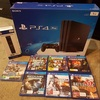 AROSE Sun Authentic Play Station 4 Slim Ps4 pro 1TB 500GB + 10 GAMES + 2 Controllers/ Display LATEST