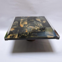 Resin with aluminium border Cake Plate