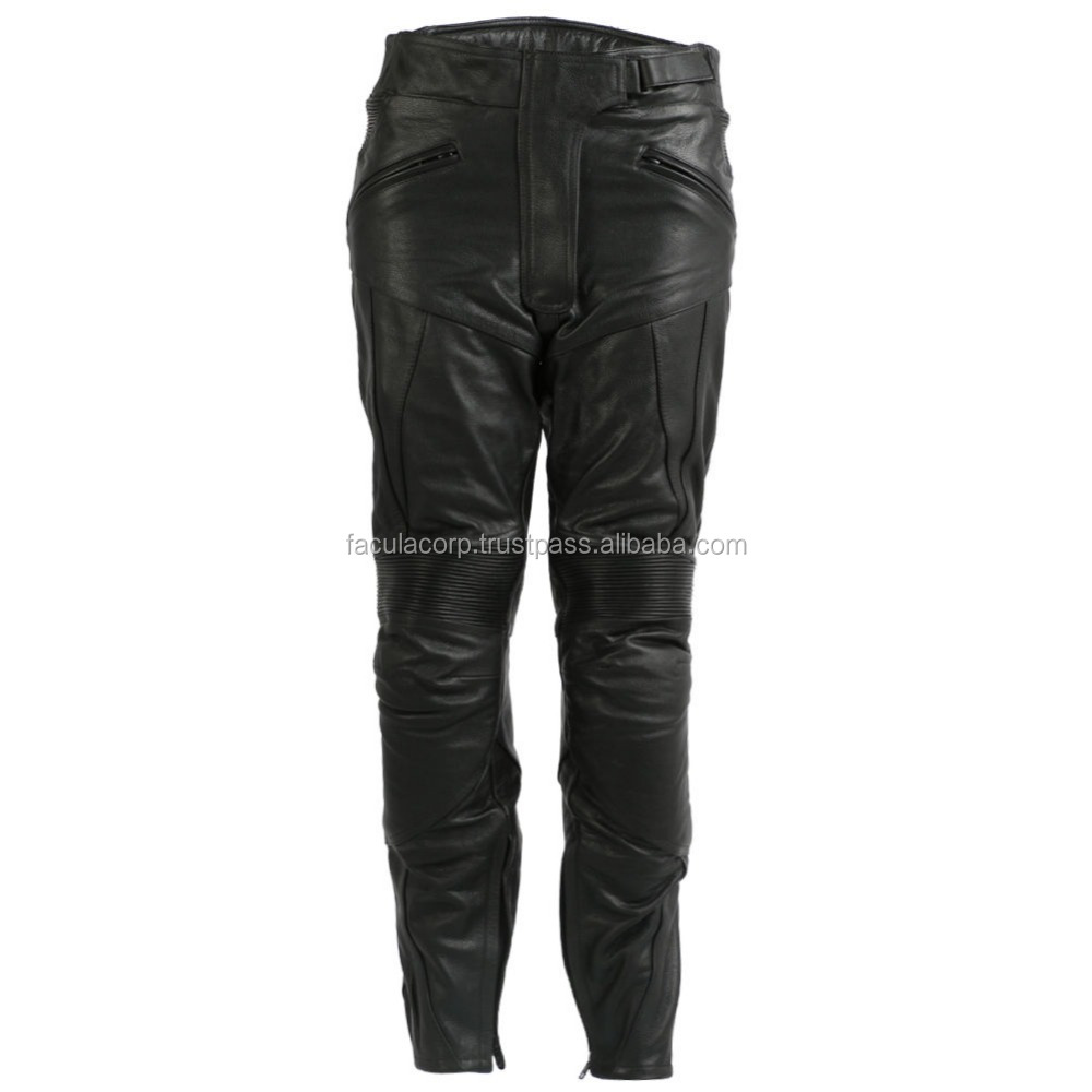 New Ladies Leather Motorcycle / Motorbike Trousers / Pants CE Armoured FC-17303