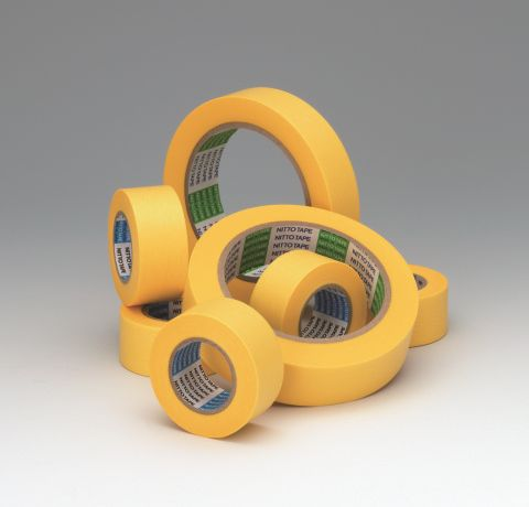 Masking tape automotive use, car painting, etc. Manufactured by Nitto Denko. Made in Japan