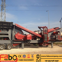 FABO MOBILE CRUSHING AND SCREENING PLANT | PRO-100 MODEL PORTABLE IMPACT CRUSHER FOR SALE | High Capacity Best Price