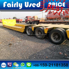 Used 2 Axles/3 Axles Semi Trailer, 20ft/40ft Container Low Bed, Flat Bed Trailer For Sale
