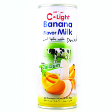 Banana Milk Canned 240ml C-Light brand