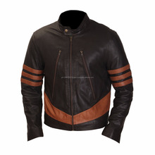 Brando biker black leather jacket, high quality branded men cow hide leather jacket