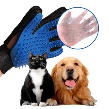 100% OriginalPet Grooming Glove - Gentle Deshedding Brush Glove - Efficient Pet Hair Remover Mitt
