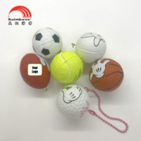 OEM Promotional Custom Anti stress Reliever Cute Soft Sports Soccer Tennis Volleyball PU Foam Sponge Mini Ball Keychain Toy Gift