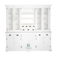 Colonial buffetkast hand painted white indoor furniture