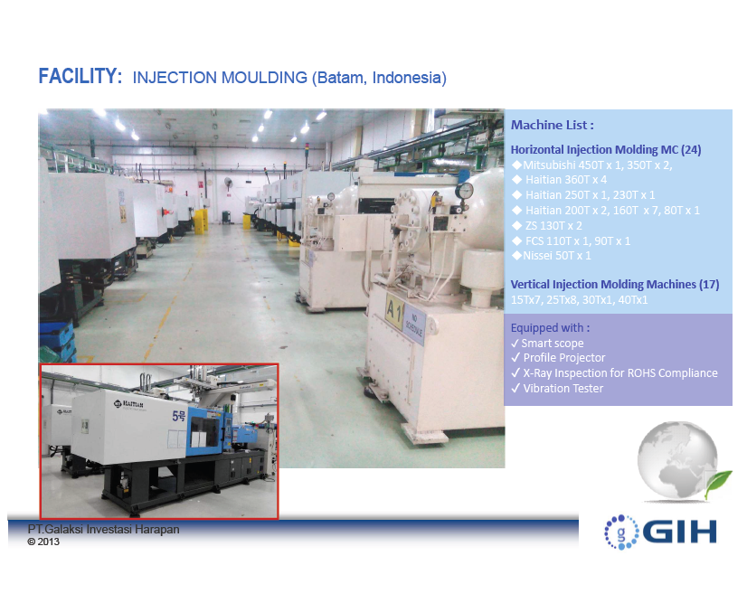 Cost Competitive Plastic Injection Moulding Services at Batam, Indonesia for all materials types ABS, PP, Nylon etc.