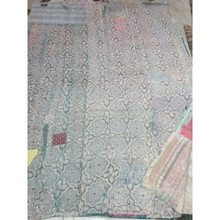 VINTAGE HANDMADE ANTIQUE OLD HAND KANTHA QUILT RUG THROW COTTON REVERSIBLE GUDARI INDIAN ANTIOUE QUILT