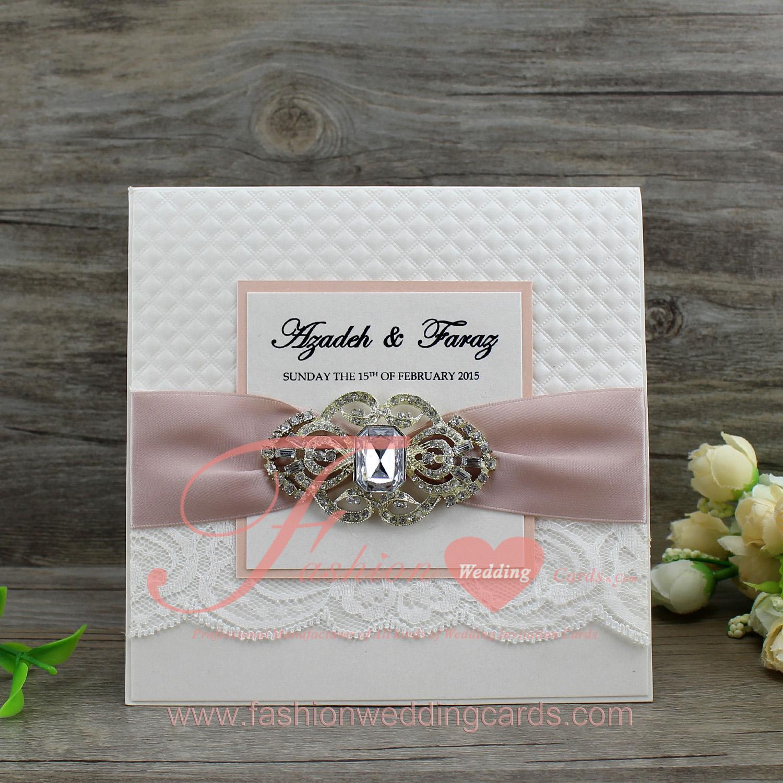 Online Customized Embossed Foled Bride and Groom Wedding Invitation ...