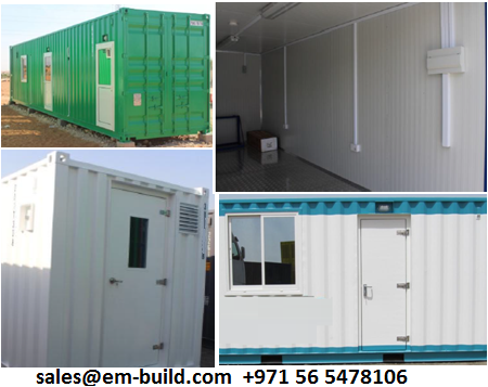 In Dubai and other UAE Emirates Prefab shelter/ Container office/ Container Conversion + 971 56 5478106 Ajman/Sharjah