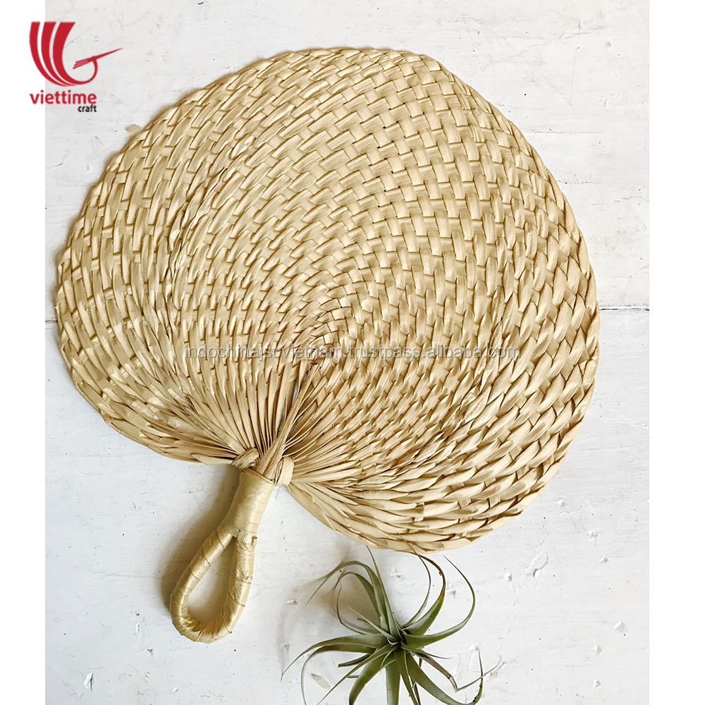 Woven bamboo hand fan/ palm leaf hanging wall decor wholesale