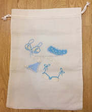 Machine embroidery laundry bag, lingerie bag, bikin/ beach laundry bag