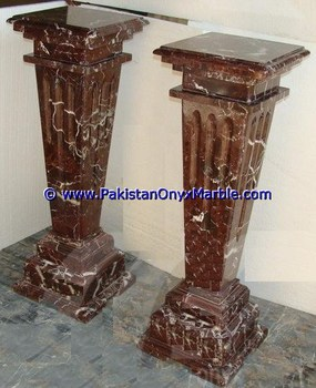 CLASSIC AND POPULAR RED ZEBRA MARBLE PEDESTALS
