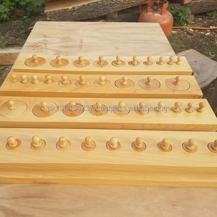 Montessori Toddler Knobbed Cylinders