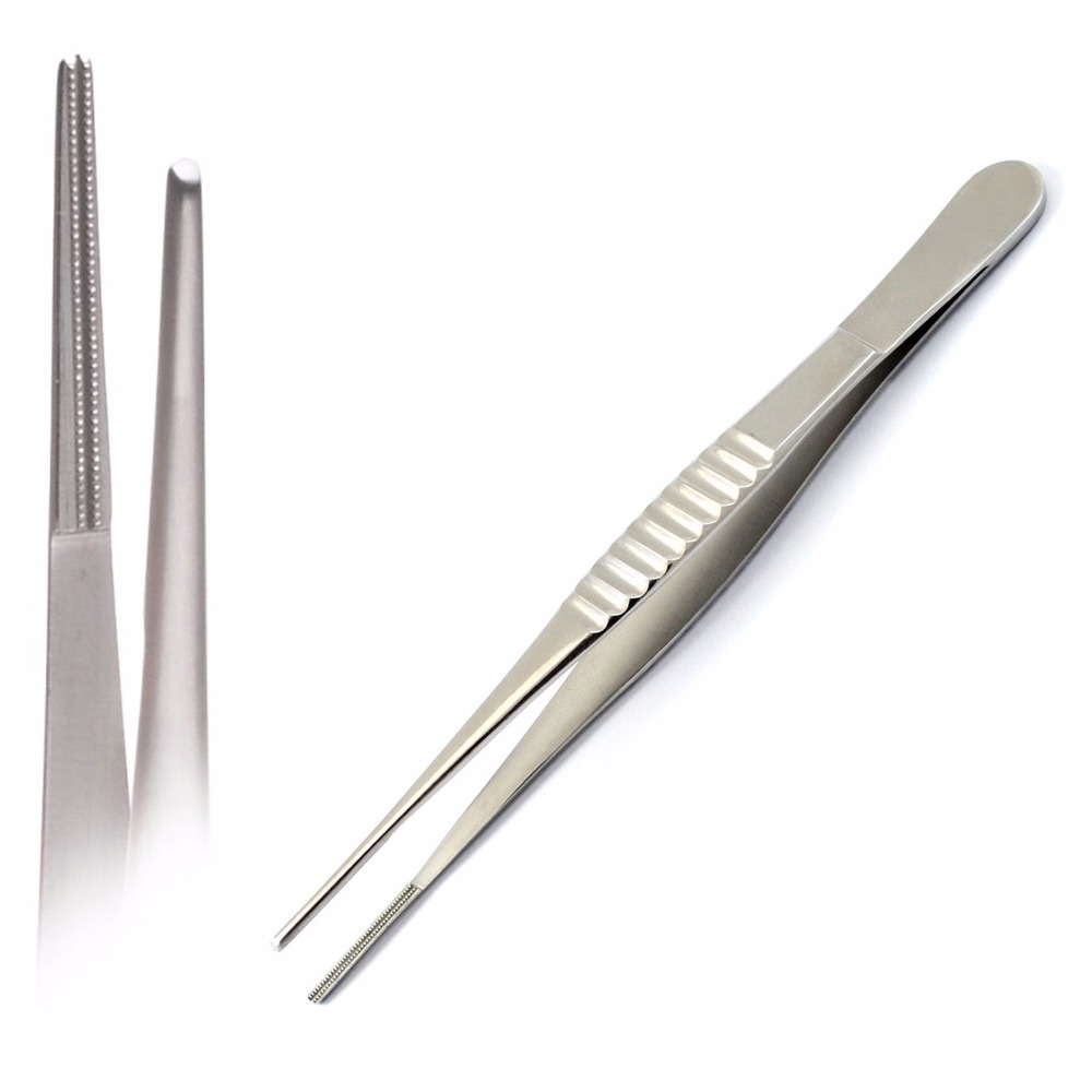 Dental Surgical Clamp Atraumatic Vascular Tissue Tweezers Forceps Dissecting