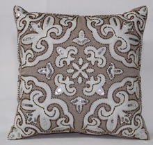 Beaded Accessories Art Cotton Cushion Cover from CushionIndia Size : 18 Inch Sq.