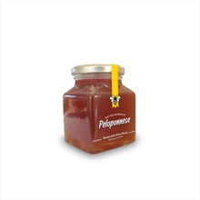 ERGO - Greek Golden & Sweet Natural Bee Honey with Chios Mastic - Glass Jar 400ml