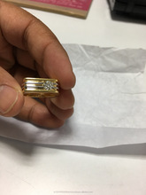 18k 14k new design gents wedding diamond gold ring collection