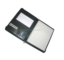 High quality leather notebook portfolios / cheap 2 pocket portfolios / customized presentation folders