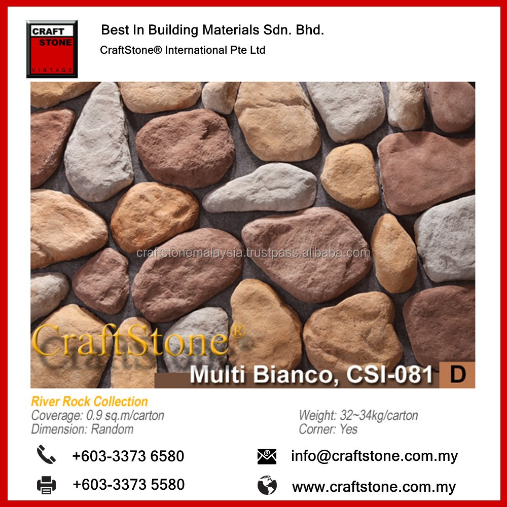 River Rock smooth finishing of natural stones found in downstream Interior Wall Stone Decoration/ Decorative Panels