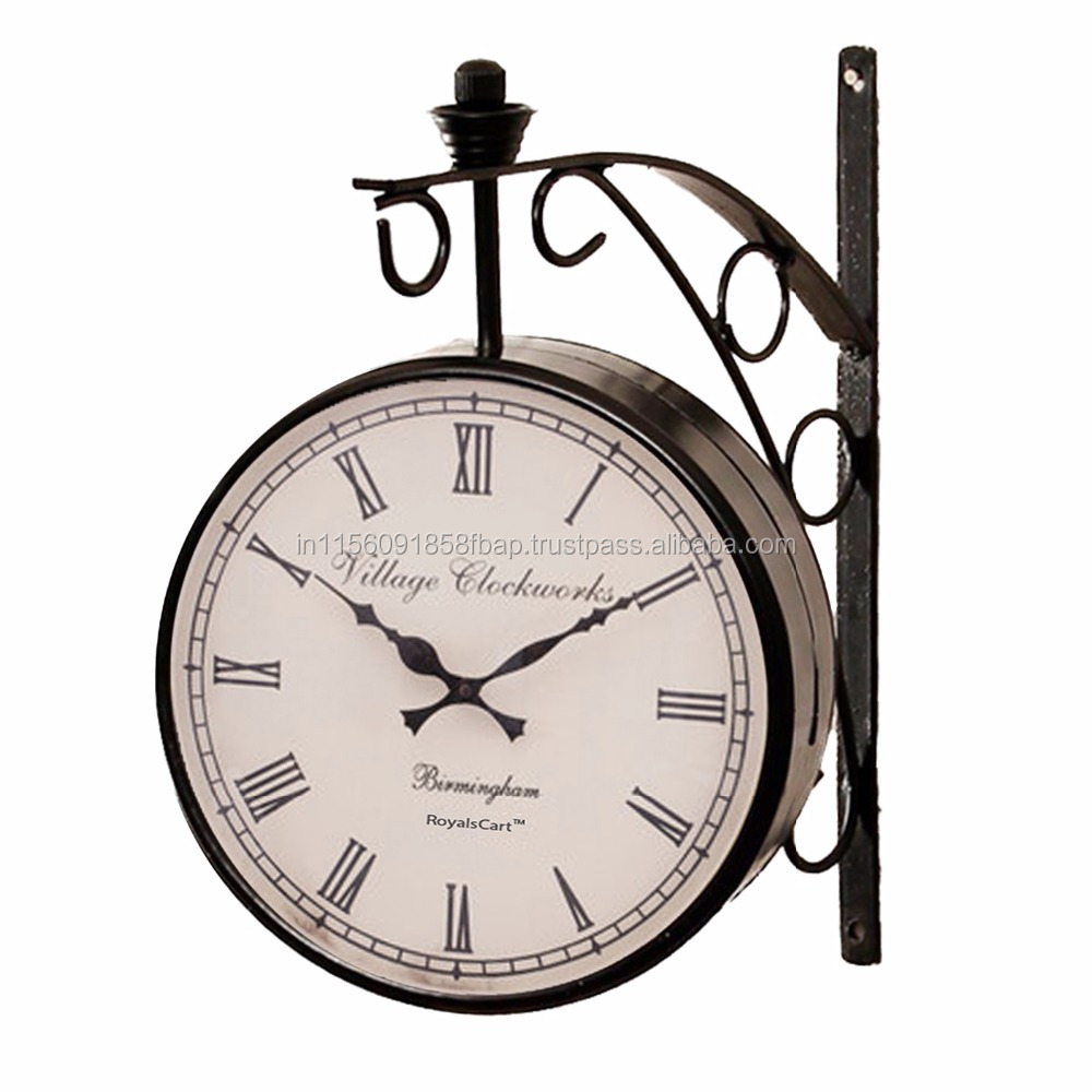 Double Sided Railway Station/Platform Analog Wall Clock [KTWC47B8]
