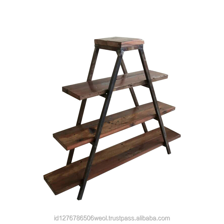 Indonesia Industrial Shoe Rack with Wood Board
