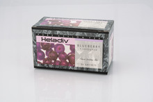 HELADIV BLUEBERRY FLAVORED BLACK TEA CEYLON TEA PREMIUM QUALITY FLAVOURED TEA 25 SACHETS IN INDIVIDUAL ENVELOPS