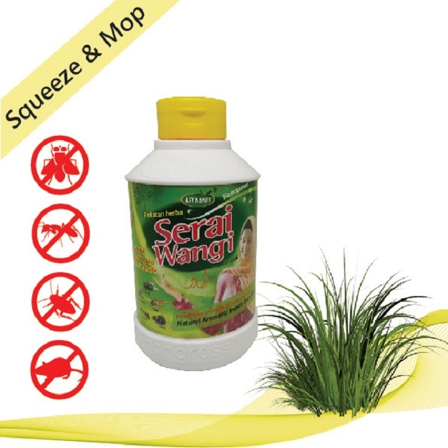 Serai Wangi AFY Haniff 500ml Liquid Lemongrass Natural Insect Repellent Suitable For All Usage
