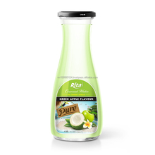 1L Glass bottle Coconut Water With Green Apple Juice From Rita Brand