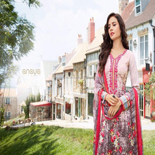 cotton suits with chiffon dupatta / wholesale unstitched salwar kameez material / salwar designs