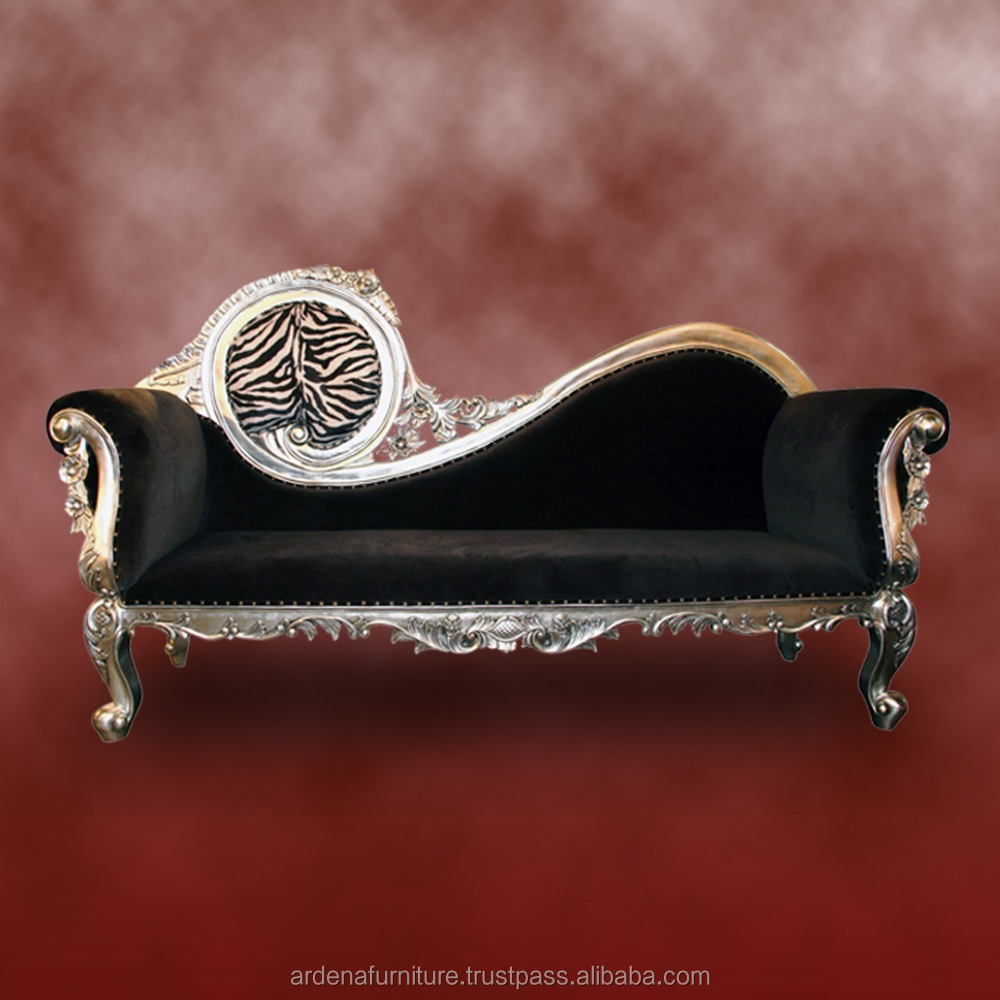 European style hand carved classic chaise lounge - living room furniture set