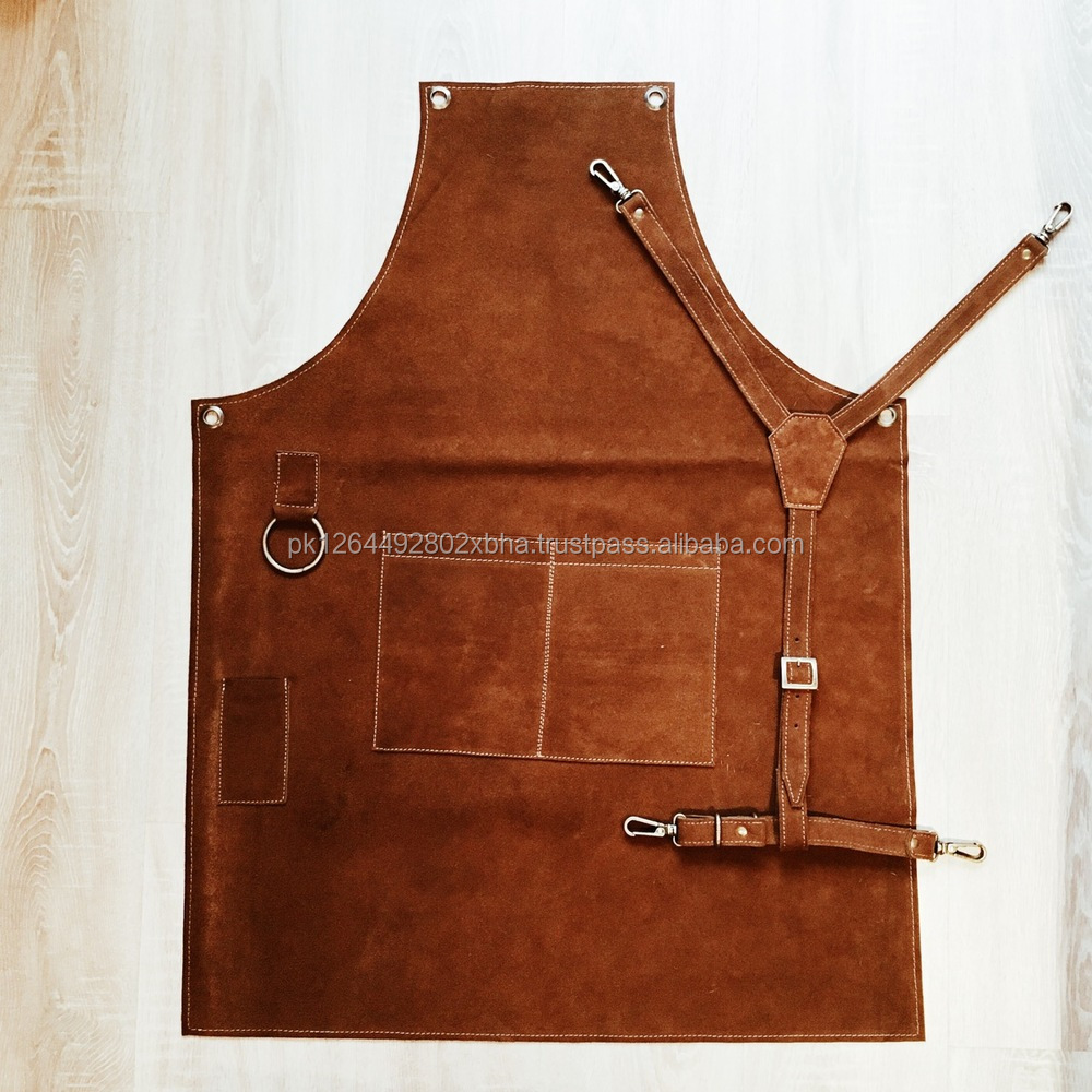 Barber Aprons denim barber apron cutting tool leather pocket barber apron