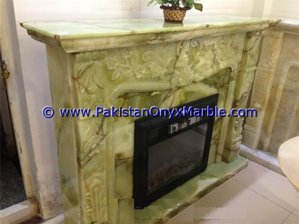 FINE BEST QUALITY AFGHAN GREEN ONYX FIREPLACES