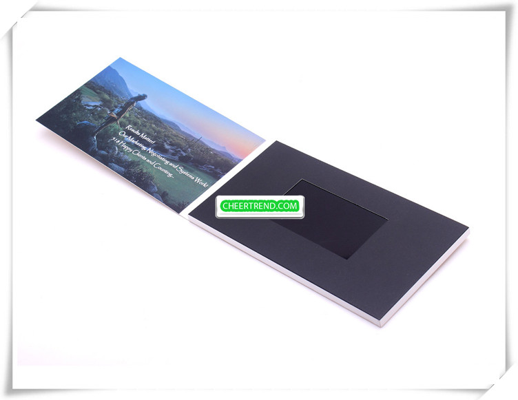 Customized 5 inch invitation video brochure lcd video greeting screen brochure for gifts