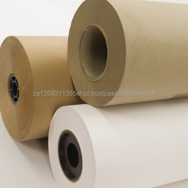 PE Coated Raw Material Paper / PE Coated Kraft Paper / Kraft Paper for sale