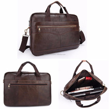 New Leather Men Genuine Briefcase Handbag Business Laptop Shoulder Messenger Bag