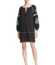 New Stylish Embroidered Long Sleeve Dress