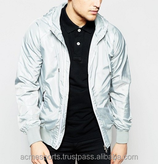 reflective jackets - Highly reflective Silver/Grey in color / Reflective Bomber Jacket /