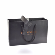 Luxury Paper Bag for promotional use custom print emboss deboss laquer accepted