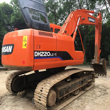 Cheap used Doosan DH220 crawler excavator for sale,Korean DH220LC excavator in Shanghai