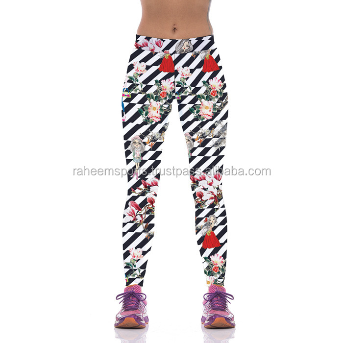 WHOLESALES NEW SEX WOMEN LEGGINS FLORAL GIRL HOT PUNK GOTHIC FUNKY LEGGINGS PANTS