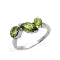 Solid 925 Silver Gemstone Ring Gemstone