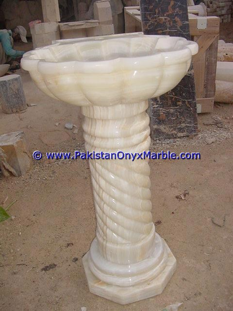 HOME OFFICE DECOR ONYX PEDESTALS SINKS BASINS WHITE ONYX