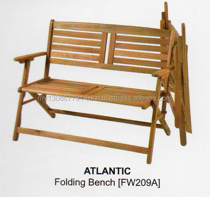 ATLANTIC ACACCIA OUTDOOR GARDEN FOLDING BENCH