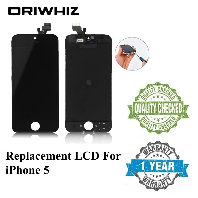 ORIWHIZ Bulk Price Grand AAA Touch Digitizer Screen with Frame Assembly Replacement for iPhone 5 5G Lcd