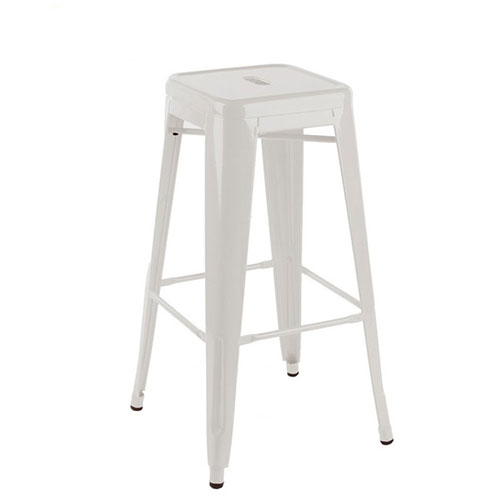 Epoxy Metal Tall White or Black Modern Bar Stool