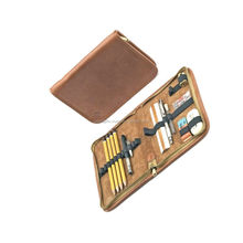 Pouch Genuine Leather Pen Carrying Case / Wholesale Customized Printing Pure Leather Pen Bag Pencil Pouch Box